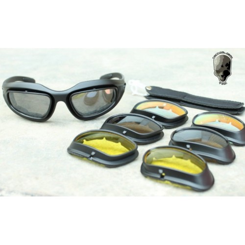 TMC C5 Polycarbonate Low Profile Eye Protection Shooting Glasses Set