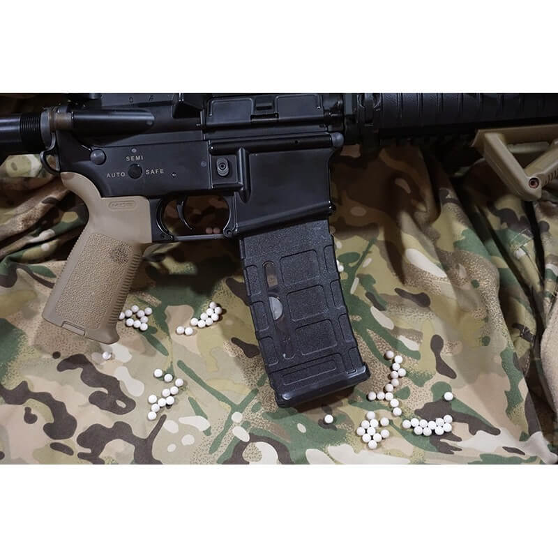 BattleAxe 380 Rds M4 Sopmod Marui EBB Series Hi Cap Polymer Magazine