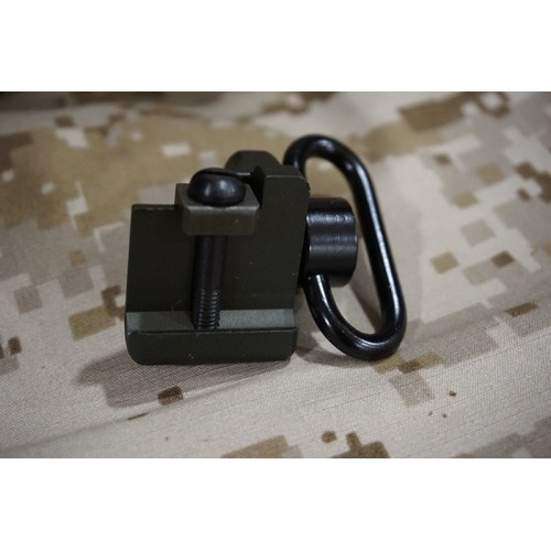 Iron Airsoft Rail Thumb Stop with QD Sling Swivel