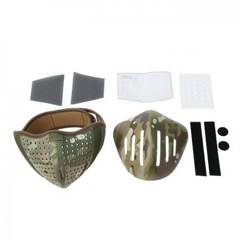 Waterfull Camo Nylon Half Face Mask