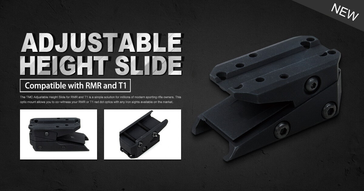 TMC Adjustable Height Slide for RMR and T1
